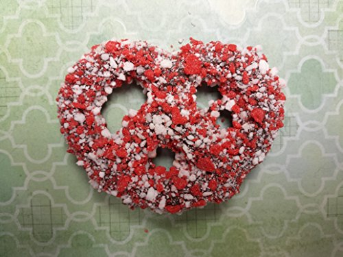 Chocolate Covered Pretzel Twists 3 inch BIG pretzel 12 Count Coated Peppermint Crunch
