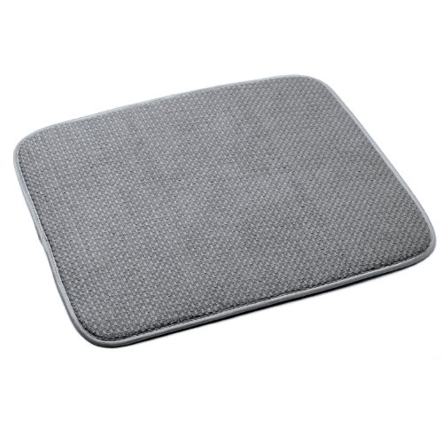 Norpro 359G Microfiber Dish Drying Mat, Gray, 16-Inch by 18-Inch