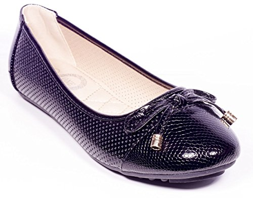 ONE Women Ballerina Flats, Bows Accents Slip On Shoes