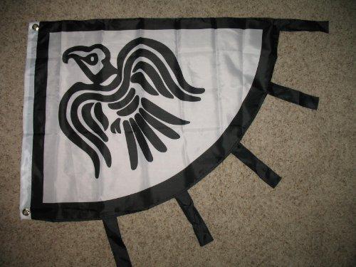 Viking Raven Black and White 3x4 Flag Banner