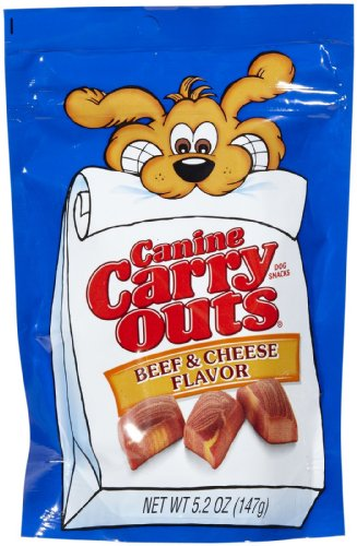 Canine Carry Outs 79100-51036 5.2 Oz Beef & Cheese Flavored Dog Snacks (Pack of 3)