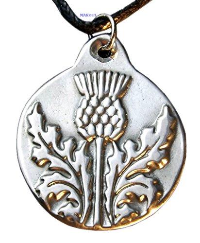 Scottish Thistle - Pewter Pendant - Scotland Necklace, Thistle National Flower,