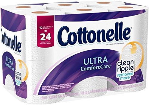 Cottonelle Ultra Comfort Care Double Roll Toilet Paper, 12 Count