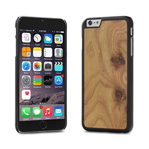 Cover-Up #WoodBack Real Wood Matt Black Case for iPhone 6 / 6s Plus - Carpathian Elm Burl