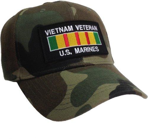 Vietnam Veteran Hat US Marines CAMO Ball Cap Vietnam Service Ribbon