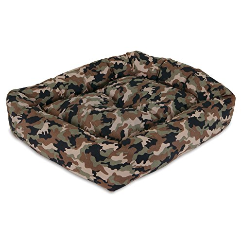 Aspen Pet 20 X 17 Camo Puffy Cuddler, Colors Vary, Assorted