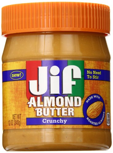 Jif Almond Butter, Crunchy, 12 Ounce