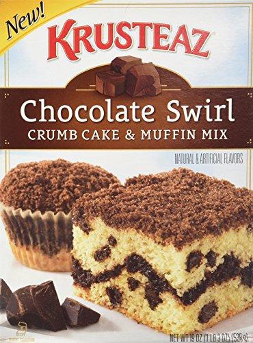Krusteaz, Chocolate Swirl, Crumb Cake & Muffin Mix, 19oz Box (Pack of 3)