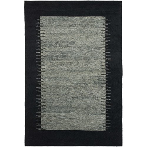 Safavieh Gabbeh Collection GB127C Hand-Knotted Multicolored Wool Area Rug, 4 feet by 6 feet (4' x 6')