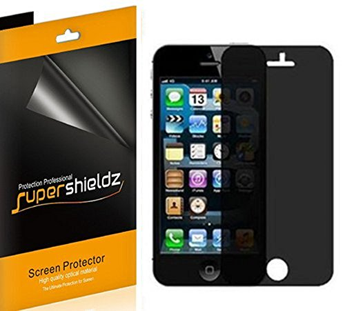 SUPERSHIELDZ- Privacy Anti-Spy Screen Protector Shield For iPhone 5S / iPhone SE / iPhone 5 / iPhone 5C [2 Pack] + Lifetime Replacements Warranty - Retail Packaging