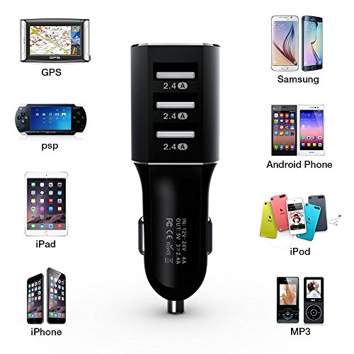 Zoweetek® Smart Universal High Capacity Car Charger Portable Fast Car Charger Compatible for Smart Phone Power Chager Supplier,iPad Air/Mini,iPod Touch,Car Power Charger