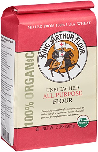 King Arthur Flour 100% Organic All-Purpose Flour, Unbleached, 2 Pound (Pack of 12)