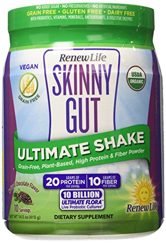Renew Life Skinny Gut Ultimate Shake, Natural Chocolate, 14.5 Ounce