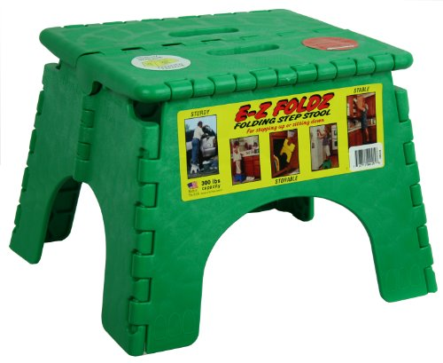 B&R Plastics 101-6G-GREEN EZ Foldz Step Stool