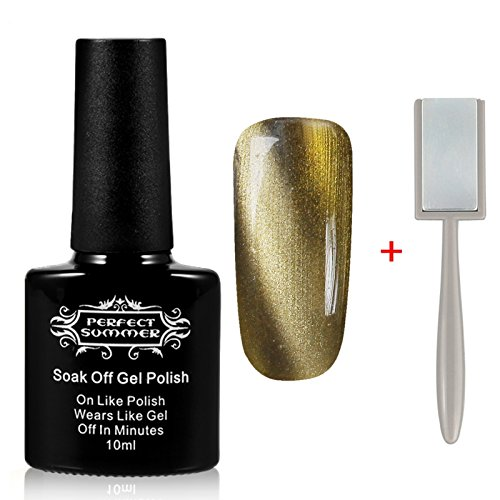 Perfect Summer Mood Changing Best Selling Magnetic 3D Cat Eye 10ml Gel Nails Polish UV Led Soak Off Artistic Starry Galaxy Nails Varnish Gloss Nails Lacquers