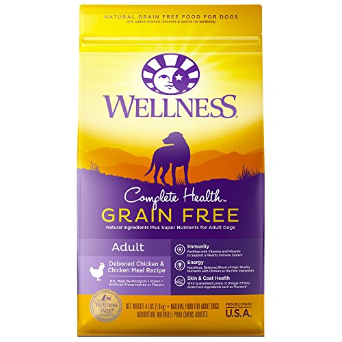 Wellness Complete Health Natural Grain Free Dry Dog Food, Chicken, 4-Pound Bag