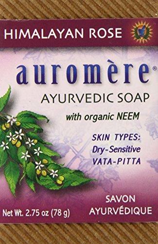 Auromere Ayurvedic Bar Soap, Himalayan Rose, 2.75 Ounce