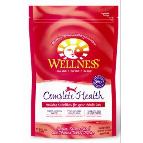 Wellness Complete Salmon, Salmon Meal & Deboned Turkey Dry Cat Food - 5.875lb