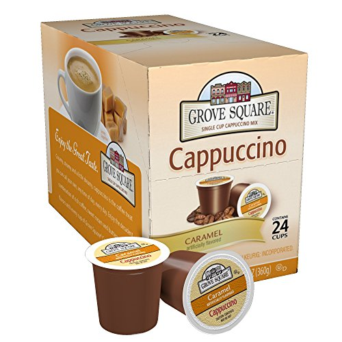 Grove Square Cappuccino, Caramel, 24 Single Serve Cups