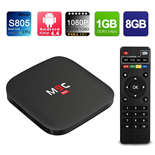 NinkBox M9C mini Android TV Box Amlogic S805 Quad Core 1080p Output 1G/8G Flash Smart Tv Player Wifi Preinstalled with Full Loaded Kodi Streaming Media Player