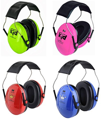 3M Peltor Kids Optime I Ear Defenders Green,Pink, Red Princess or Blue Prince