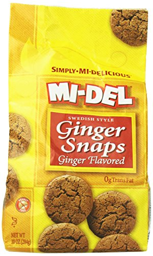 Mi-Del Natural Flavored Ginger Snaps, 10 Ounce