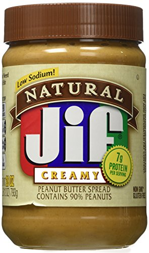 Jif Natural Creamy Peanut Butter Spread, 28 oz