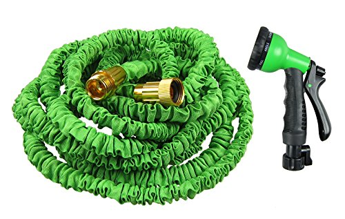 Blueberry New Version 100Ft Strongest Garden Hose Double Latex Core Extra Strength Fabric Expandable Hose