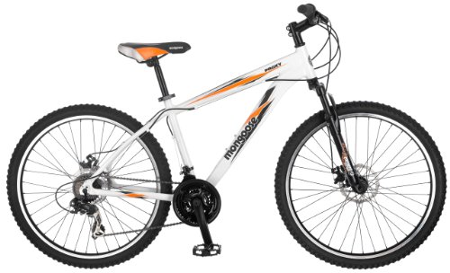 Mongoose Proxy 26-Inch Mountain Bicycle, Matte White, 18-Inch Frame