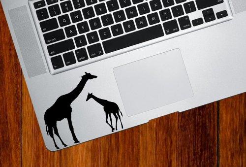Giraffe Mom and Baby - Trackpad / Keyboard - Vinyl Decal