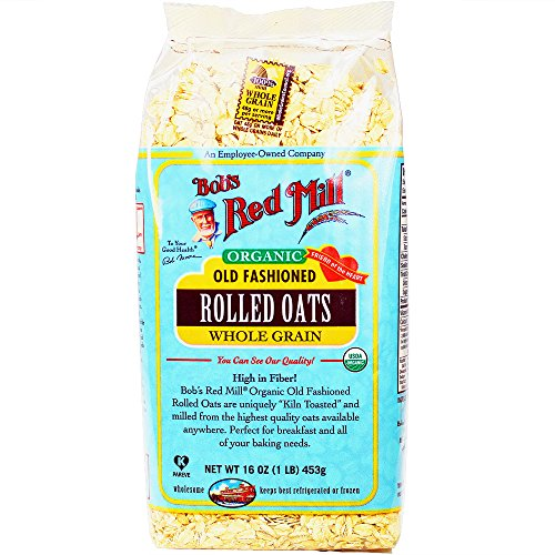 Bob's Red Mill Organic Oats Rolled Regular, 16-Ounce (Pack of 4)