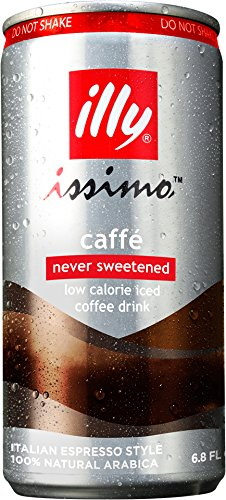 Illy Issimo Caffe Coffee Can, No Sugar, 6.8 Fluid Ounce (Pack of 4)