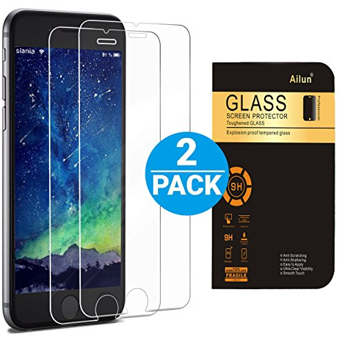 iPhone 6 plus Screen Protector,iPhone 6s plus Screen Protector,[2 PACKs]by Ailun,Curved Edge Tempered Glass,Bubble Free,Anti-Fingerprint,Oil Stain&Scratch Coating,Case Friendly,Siania Retail Package