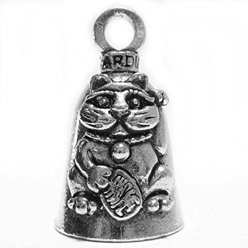 Guardian® Maneki Niko Beckoning Cat Motorcycle Biker Luck Gremlin Riding Bell or Key Ring