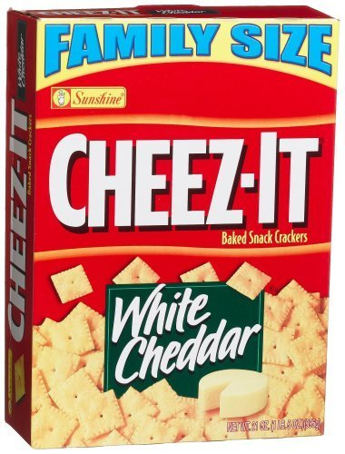 Cheez-It Baked Snack Crackers, White Cheddar, 21-Ounce Boxes (Pack of 3) by Cheez-It