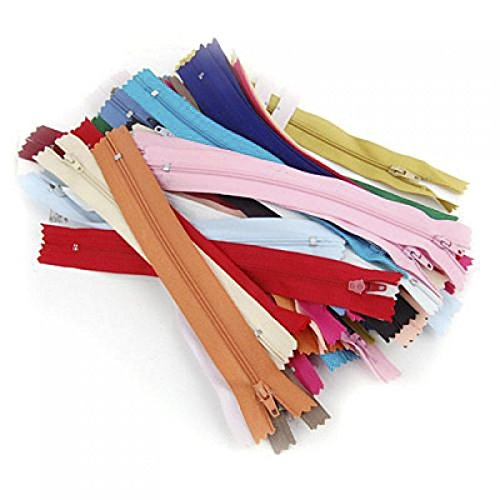 Approx. 50pcs 7 Inches Nylon Zippers for Sewing---Random Color
