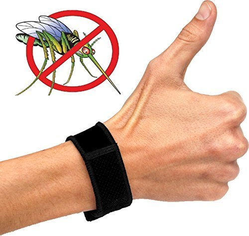 Mosquito Repellent Bracelet (Black), ArtNaturals Pest Control Repeller with 2 Free-Refills Keep Mosquitoes Away! No Spray, Snugly Fits Your Wris, 24hr Protection for Men, Women & Kids Against Insect Bites - Natural Ingredients, Deet-free!