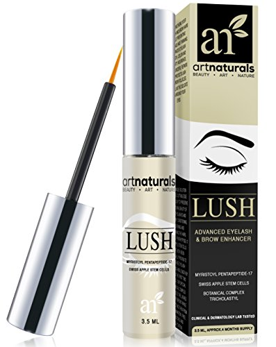 Art Naturals Eyelash Growth Serum (3.5ml) - Thicker, Longer Eyelashes & Eyebrows Enhancer with LUSH, Dermatologist Tested Product, Revolutionary Pentapeptide-17 & Swiss Apple Stem Cells - 2016 Edition
