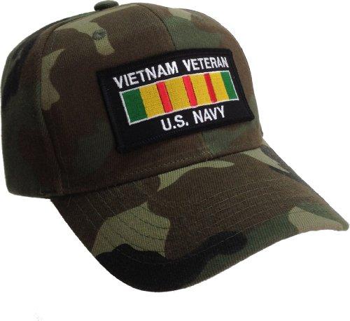 Vietnam Veteran Hat US Navy Vietnam Service Ribbon Camouflage