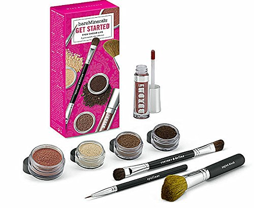 Bare Minerals Get Started Eyes Cheeks Lips 8 Piece Collection - Light to Medium Skintones