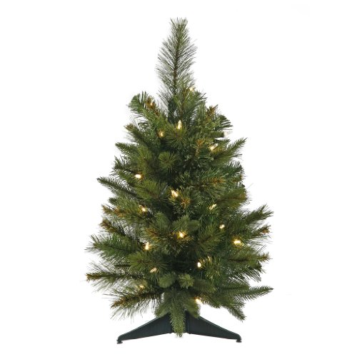 Vickerman 24 Cashmere Pine Artificial Christmas Tree with 50 Warm White LED lights