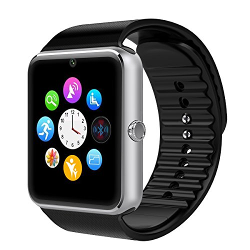 Smart Watch, Otium® One Bluetooth Smart Watch with SIM Card Slot and NFC for IOS iPhone, Android Samsung HTC Sony LG Smartphones(Black)