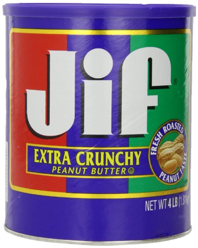 Jif Extra Crunchy Peanut Butter, 4 Pound (Pack of 6)