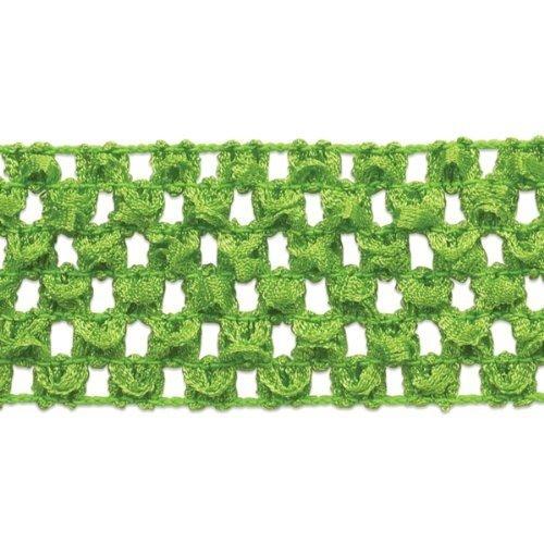Expo 20-Yard Crochet Headband Stretch Trim, 1-3/4-Inch, Lime