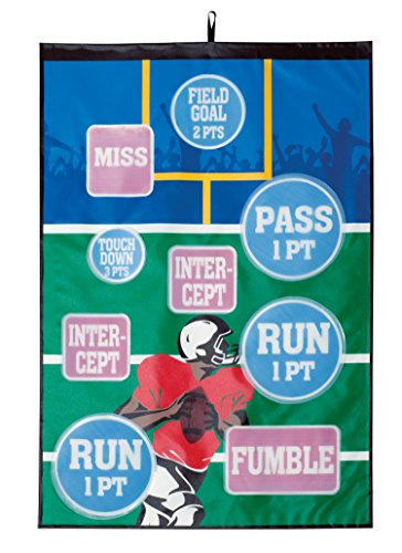 Indoor Outdoor Over the Door Football Target Challenge Game - Best Birthday Bachelorette Party Games for Adults Kids Family Children Fun Activities Foot Ball Throwing Toss Sport by Perfect Life Ideas