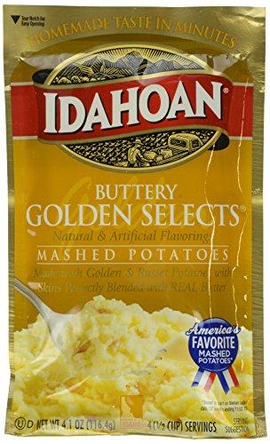 Idahoan Mashed Potatoes, Buttery Golden Selects, 4.1 Ounce
