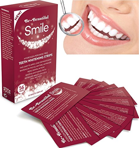 56 Teeth Whitening Strips, Zero Peroxide & Chlorite, Enamel Safe, Mint Flavoured Dissolvable Whitening Strips, Easy to Use Rapid 15 Minute Professional Treatment, Whitens & Shines Teeth, Refreshes Breath & Kills Oral Bacteria, Safest 5 Star UK Made Pharmaceutical Grade Proven by Consumer Trials |SUPER SAVER! ONLY £9.95 FOR 56 STRIPS | FREE UK DELIVERY