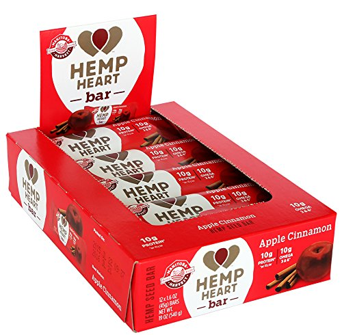 Manitoba Harvest Hemp Heart Snack Bars, Apple Cinnamon, 12 Count