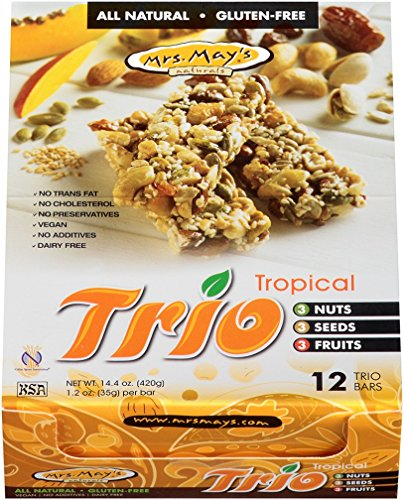 Mrs. May's Trio Bar, Tropical, 1.2 Ounce (Pack of 12)