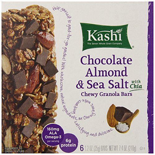 Kashi Chewy Granola Bars, Chocolate Almond and Sea Salt with Chia, 7.4 Ounce